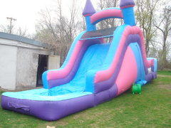 Pink and Purple Waterslide