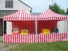 10 X 20 Midway Tent with 4 Tub Games