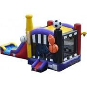 15 X 28 Sports 3-D 5 in 1 Combo Bouncer with Slide
