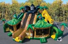 Rain Forest Triple Combo - 3 Slides and 2 Bounce Houses