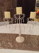Ivory Candelabra with Crystals