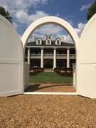 White Arched Door Entry