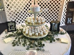 Ivory Distressed 3 Tier Cupcake Stand