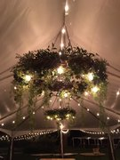 Large Grapevine Wreath with Cafe Lights