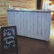 White Distressed Bar with Vertical Planks