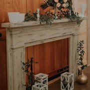 Vintage Ivory Distressed Mantle