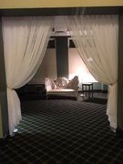 Entrance draping theater style