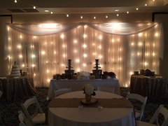 Drapery Backdrop with Lights