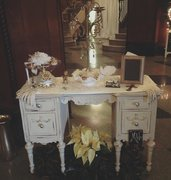Ivory Distressed Vintage Desk