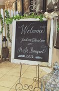 Medium White Rustic Frame Chalkboard
