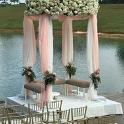 Round 4 Column Arbor with Draping