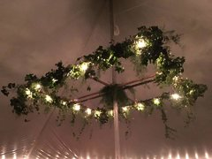 Large Square Greenery Chandelier