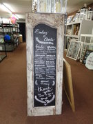 5' x 1.5' Ivory Distressed Chalkboard