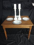 Vintage Small Square Dining Table