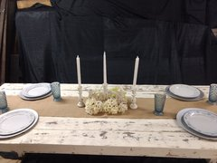 6FTWHITE DISTRESSED SWEETHEART FARM TABLE