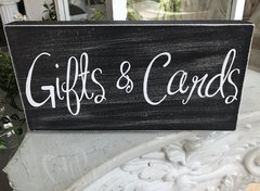 """Gifts & Cards"" sign"