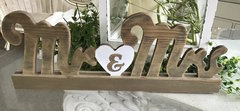 """Mr & Mrs"" wooden sign"