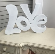 "Metal ""Love"" sign"
