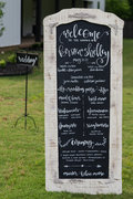 5.5 ft x 2.5ft White Distressed Chalkboard