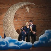 Moon & Star Photo Booth Prop