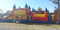 50' Red&yellow Castle Top Obstacle