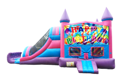 Ballon Birthday 3n1 Combo Pink