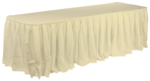 Polyester 21' Table Skirt (Avaliable in Black, White or Ivory)