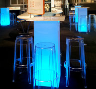 LED Pedestal Bar Table