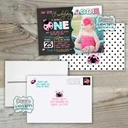 Printed Birthday Invitations : Linen Card Stock