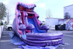 16' PINK AND PURPLE MARBLE SLIDE WITH POOL