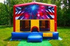 AMERICAN FLAG MOONBOUNCE