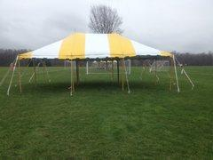 20x40 Yellow and White Pole Tent