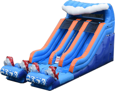Big Kahuna Dual Lane Water Slide