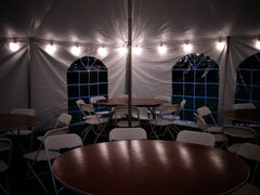 20 x 20 Tent Lighting