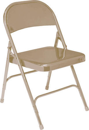 Cushioned Tan Folding Chair