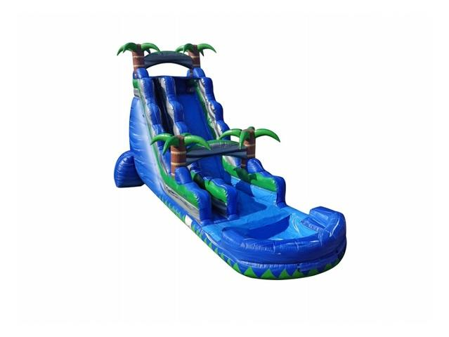 22 Ft. EZ Blue Crush Water Slide Single Lane