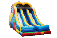 20 Ft Double Lane Dry Slide