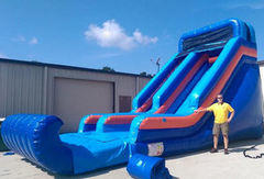 18ft Dry Super Blue Slide