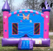 Pink Butterfly Castle w/ inside Basketball 15 x 15