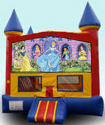 CPU - Disney Princess Colorful Castle w/ inside basketball goal 15ft x 15ft