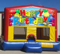 Happy Birthday Balloons Colorful Funhouse 15ft x 15ft