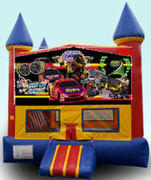 CPU - Racing Colorful Castle w/ inside basketball goal 15ft x 15ft