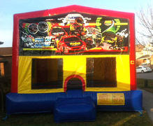 Racing Colorful Funhouse 15ft x 15ft