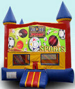CPU - All Sports Colorful Castle w/ inside basketball goal 15ft x 15ft