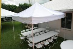 (1)Tent(2)Tables(16)Chairs Package