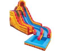 1-20 ft Fire & Ice Water Slide