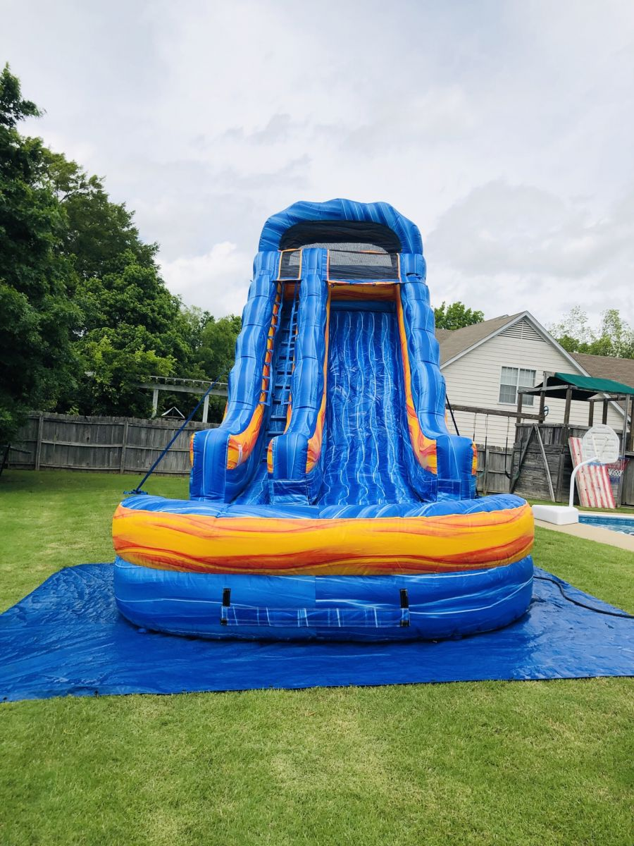 20' Blue Electric Waterslide