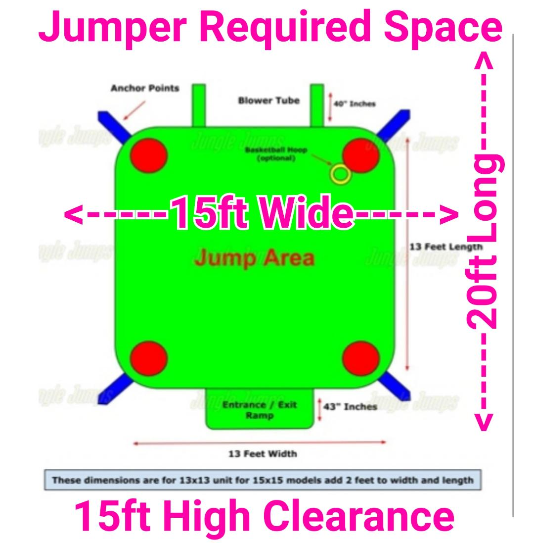 Bounce House Space Diagram EJFunday