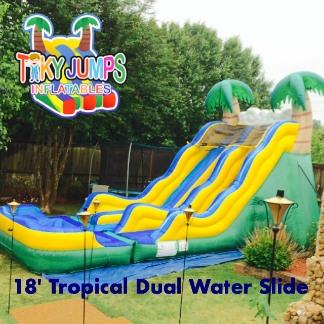 The 18' Double Water Slide