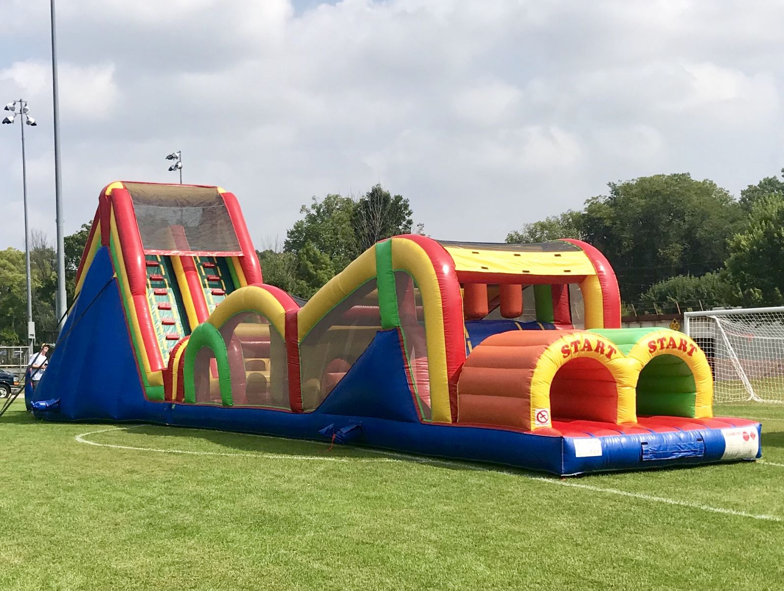 77ft. Extreme Obstacle Course Rental